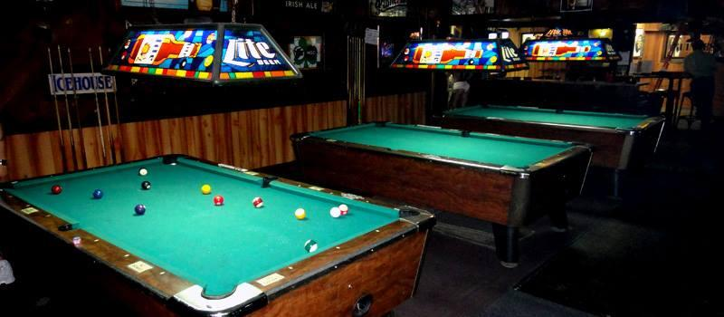3 pool tables always only .50 cents a game